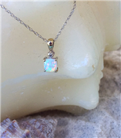 Opal Diamond Pendant