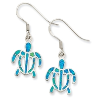 Blue Opal Sea Turtle Earrings