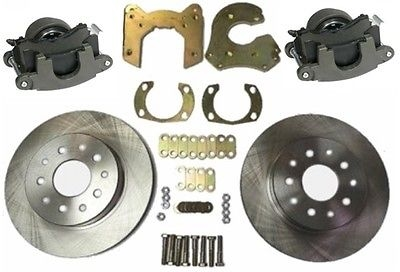 "PEM 9"" Ford Street Rod Bolt On Rear Disc Brake Kit with GM Metric Brake Calipers"