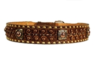 Double J Saddlery Brown Vintage w/ Cream Buck Stitch