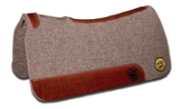 "Bayou West 1"" In-Set Contoured Wool Felt Pad"