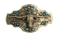 ENGRAVED LONGHORN BUCKLE
