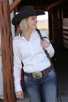 Women's Cinch Long Sleeve Solid Button Up