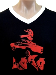 LOW RIDEIN' LOCO V-Neck T-Shirt