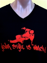 YOUR STYLE IS WACK B BOY V-Neck T-Shirt