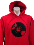 RECORD RED HOODIE