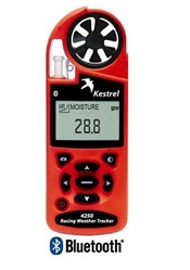 Kestrel 4250 Racing Weather Tracker with Bluetooth Safety Orange