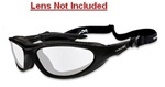 WileyX 557F Blink Matte Black Frame Only, No Lenses