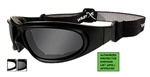 WileyX SG-1M SG-1 Goggles, Smoke Grey/Clear Asian Fit Lens