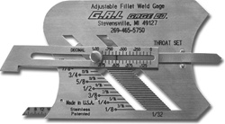 GAL Gage 3 Adjustable Fillet Weld Gauge, Standard Units