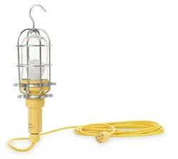 Daniel Woodhead 1203B163 Hand Lamp,Wet Location,100W,50 Ft,Yellow