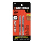 Black and Decker 75-250 2 Pc Fast Cutting Wood Jig Saw Blades