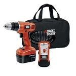 Black and Decker GCO14SFB 14.4V Cordless Drill, Soft Bag, Charger, Battery, & Stud Finder
