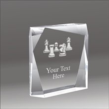 Jewel Bevel chess acrylic award