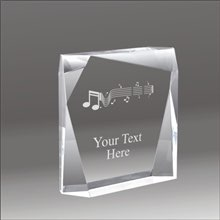 Jewel Bevel music acrylic award