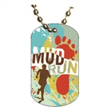 Mud Run Dog tag