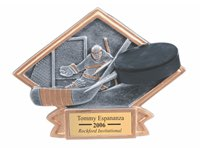 Hockey Sculpted Resin Trophy