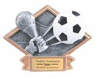 Soccer Sculpted Resin Trophy
