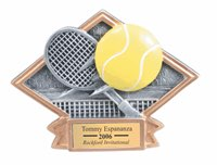Tennis Sculpted Resin Trophy