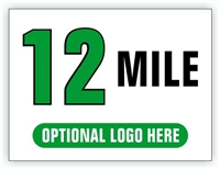 Race Distance Marker Sign 12 Mile