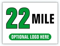 Race Distance Marker Sign 22 Mile