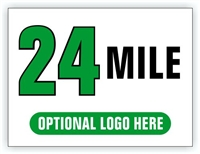 Race Distance Marker Sign 24 Mile