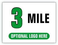 Race Distance Marker Sign 3 Mile