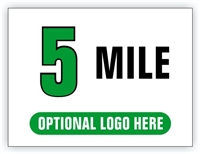 Race Distance Marker Sign 5 Mile
