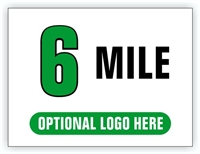 Race Distance Marker Sign 6 Mile