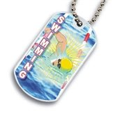 Swimming Dog tag