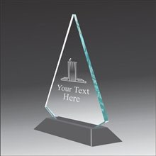 Pop-Peak debate acrylic award