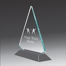 Pop-Peak fencing acrylic award