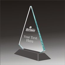 Pop-Peak softball acrylic award