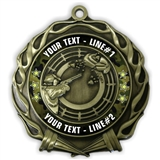 CUSTOM TEXT SHOOTING Medal