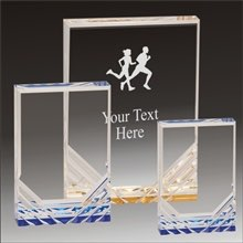Cross Country Running Jewel Mirage acrylic award