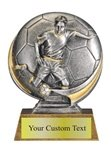 Male Soccer  Sculpted Resin Trophy