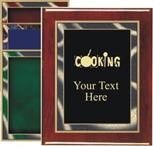 Piano Finish Cooking Award Plaque