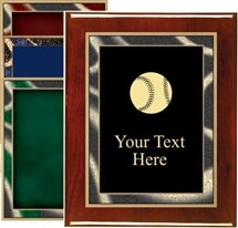Piano Finish Softball Award Plaque