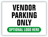 Event Parking Sign - Vendor Parking Zone