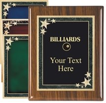 Piano Finish Billiards Award Plaque
