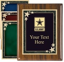Piano Finish Military Award Plaque