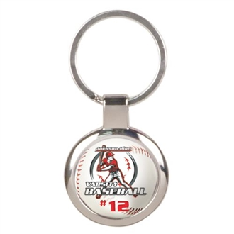Chrome Plated Round Keytag