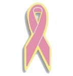Pink Awareness Ribbon Pin
