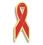 Red Awareness Ribbon Pin