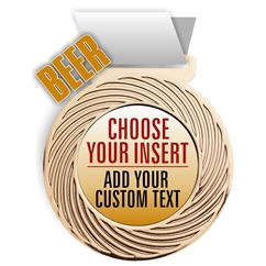 Beer Full Color Insert Medal