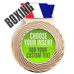 Boxing Full Color Insert Medal