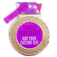 Gymnastics Full Color Insert Medal