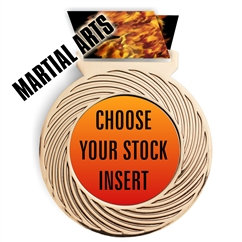 Martial Arts Full Color Insert Medal