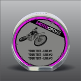 Full Color Printed Motocross Acrylic Award