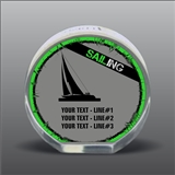 Full Color Printed Sailing Acrylic Award
